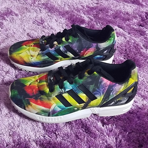 19f71580f adidas Shoes - Adidas Zx flux Multicolored rainbow running shoes